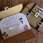 Treasure Chest/Pirate Invitation (Pack of 10)