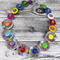 Disco Diva - Records Colourful - Buttons Necklace  - Jewellery - Bonus Earrings