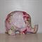 Large Elephant Softie -Sunshine Roses pink