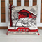 1968 Calendar Cushion cover Covered Bridge Madison County linen