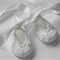 Crocheted White Ballet Shoe    NB to 12M   Custom Colour   Made to Order
