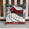 1970 Calendar Cushion cover Covered Bridge Madison County linen