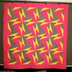 Paper pieced zig zag quilt