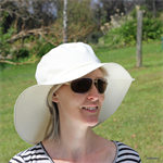 Ladies Natural Floppy Sunhat Size Medium 56cm
