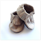 Glittery Leather Baby Moccasins