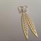 Sterling Silver Filigree Leaf Earrings