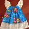 Lace flutter dress sz 0-4