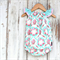 Seaside Playsuit Rose Wreath Sizes Newborn - 3