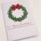 Handmade Christmas Card - Merry Christmas Wreath - Set of 2