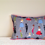 Mad Men 1950s cushion cover chic Women stylish lumbar pillow