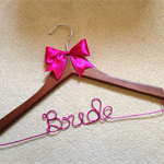 Beautiful BRIDE hanger - perfect gifts for the bride to be on her bridal shower.