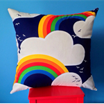 Rainbow Cushion cover children's play room Large floor pillow cloud dreaming