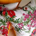 Australian Wildflowers cushion cover - rustic country floral cover