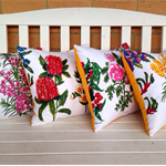 Australian Wildflowers cushion cover - Banksia retro floral linen cover