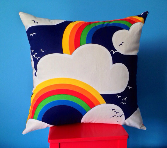 Rainbow Cushion Cover Children S Play Room Large Floor Pillow Cloud Dreaming