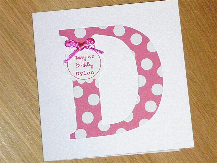 Boys or Girls personalised Happy Birthday card Vicki G – Personalized 1st Birthday Cards