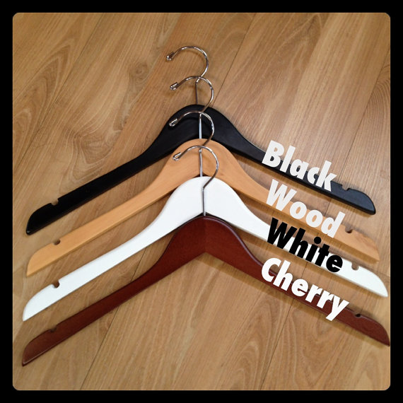 Perfect Wedding Gift For Bride: 2 Personalised Wedding Hangers For The Bride & Groom To Be