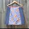 Blue japanese & chenille denim A line panel skirt