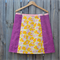 Pink birds, yellow & purple A line panel skirt