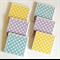 Cross Coasters - 6 Ceramic Tile Drink Coasters Mint Yellow Grey Crosses