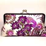 Purple perfection large clutch purse