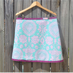 Amy Butler turquoise & pink A line skirt