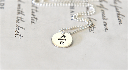Arrow Initial Necklace Personalised Sterling Jewellery Minimalist Arrow Couples