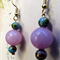 Stone and Cloisonne Drop Earrings