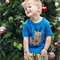 Boys Reindeer Applique Tee