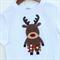 Reindeer Christmas Shorts Applique Tee Sizes 1-6
