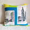 Perth cushion cover tea towel with mod line graphics