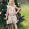 "Christmas Playsuit/Romper ""Addi"" Flutter Sleeve Fabric brooch Sizes 4-6"