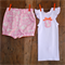 Baby Girl Safari Shorts & Singlet set (Bloomer/Bloomers/Top/Pants) 0-24mths