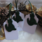 Green Christmas Cat Cold Porcelain Gift Tags