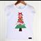 Scrappy Applique Christmas Tree Tee Sizes 1-7