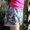 Woodland Fox Dark Teal, Shorts Lime Polka Dot Picot Lace Edge Girl's Size 10