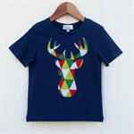 Reindeer  Silhouette Applique Tee