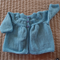 Size 1  years hand knitted cardigan in blue : OOAK, washable, acrylic