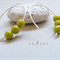 Argentium Sterling Silver range - avocado green Czech glass bead earrings