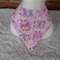 Bandana Bib Handmade Pink Owls