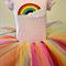 Rainbow Tutu Set includes TuTu and s/sleeve Tee in Light Pink or Purple. sz NB-2