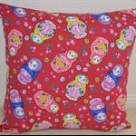 Red Babushka Dolls Cushion Cover