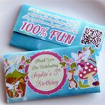 Personalised Fairy Birthday Chocolate Wrapper