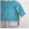 SALE 40% off - Aqua Lacy Jumper -6 months Hand knitted