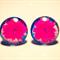 Pink flower glass stud earrings