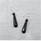 Polished black, multifaceted onyx drop & matte onyx earrings