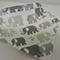Organic Cotton Adjustable Baby Bandana Bib with Bamboo Fleece - Cloud 9 Elephant