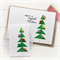 buttons christmas card and gift tag set geometric christmas tree with buttons