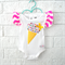 Icecream Neon Baby Bodysuit - pink, toddler, summer, newborn, onesie