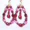 Fuchsia drop earrings